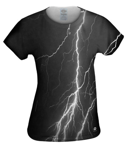 Lightning Storm Black White