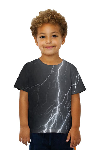Kids Lightning Storm Black White