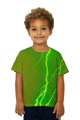 Kids Lightning Storm Green Yellow