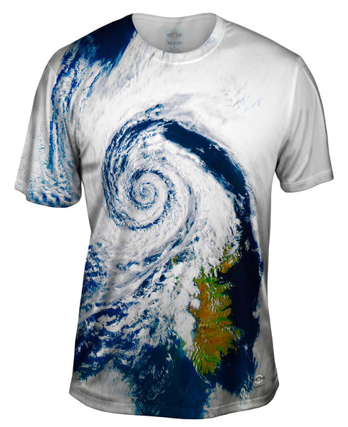 Wild Weather Hurricane Iceland Mens T-Shirt