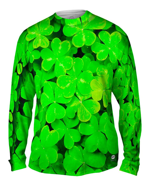 St Patrick Four Leaf Clover Mens Long Sleeve