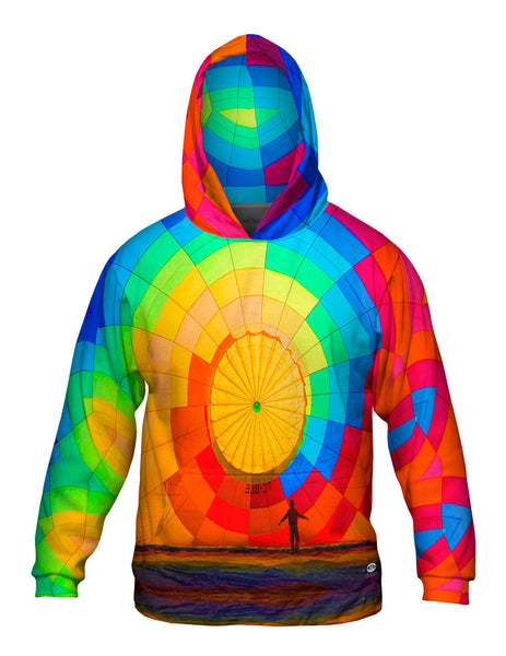 Hot Air Balloon Inflating Mens Hoodie Sweater