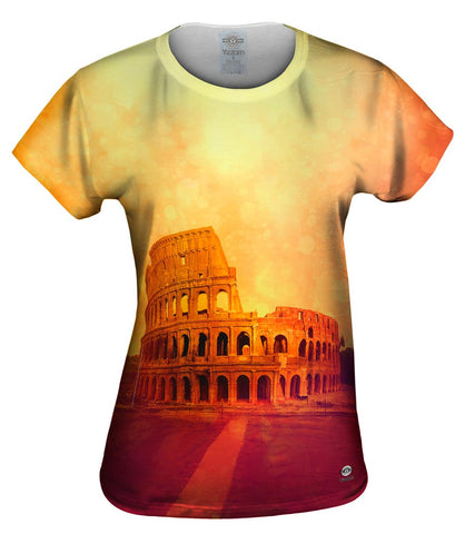 Fashion Golden Colosseum Rome Italy