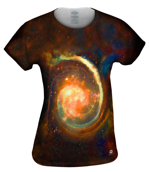Space Galaxy Virtual Ring Nebula Womens Top