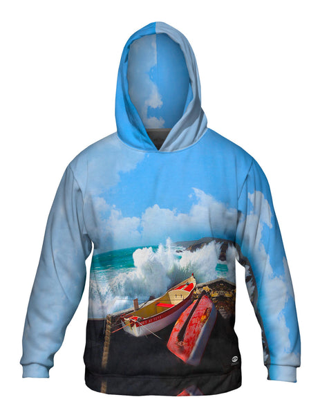 A Storm At Pors Loubous Mens Hoodie Sweater