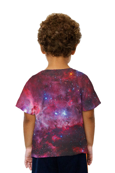 Kids Great Carina Nebula Pink Space Galaxy Kids T-Shirt