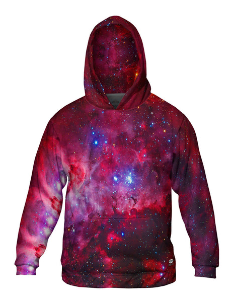 Great Carina Nebula Pink Space Galaxy Mens Hoodie Sweater