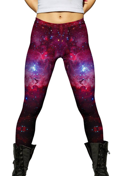 Great Carina Nebula Pink Space Galaxy Womens Leggings