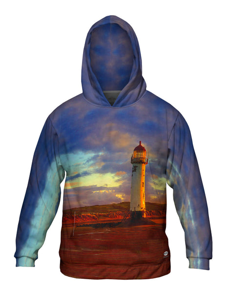 Abandoned But Not Forgotten Lighthouse Mens Hoodie Sweater