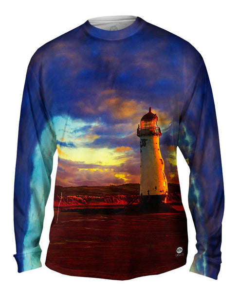 Abandoned But Not Forgotten Lighthouse Mens Long Sleeve