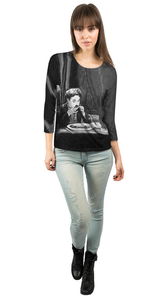 Charlie Chaplin The Gold Rush Boot Womens 3/4 Sleeve