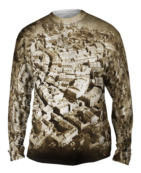 Boston From The Air Mens Long Sleeve