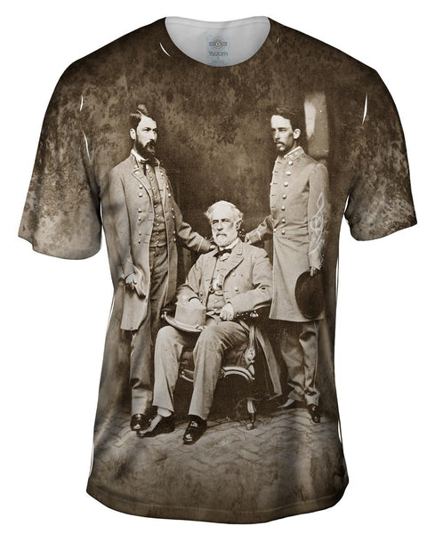 General Robert E Lee , Custis Lee & Walter Taylor Mens T-Shirt