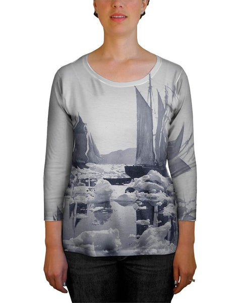 Sailing Ships In An Ice Field Womens Tank Top