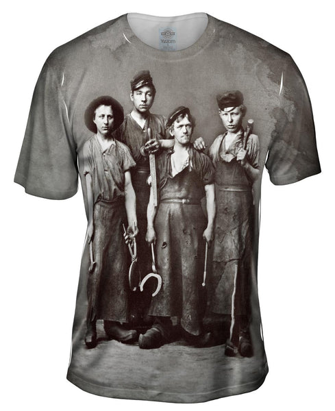 Four Young Blacksmiths Mens T-Shirt