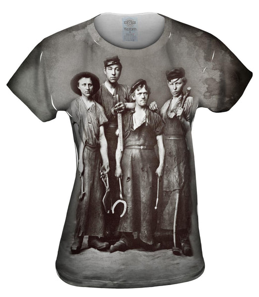 Four Young Blacksmiths Womens Top