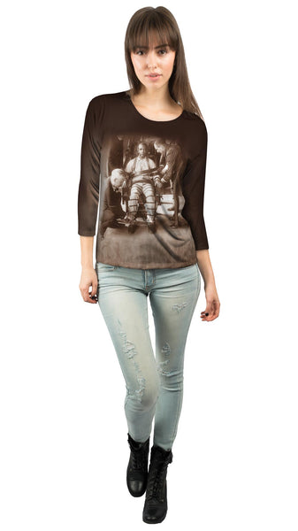 Electric Chair At Sing Sing Womens 3/4 Sleeve