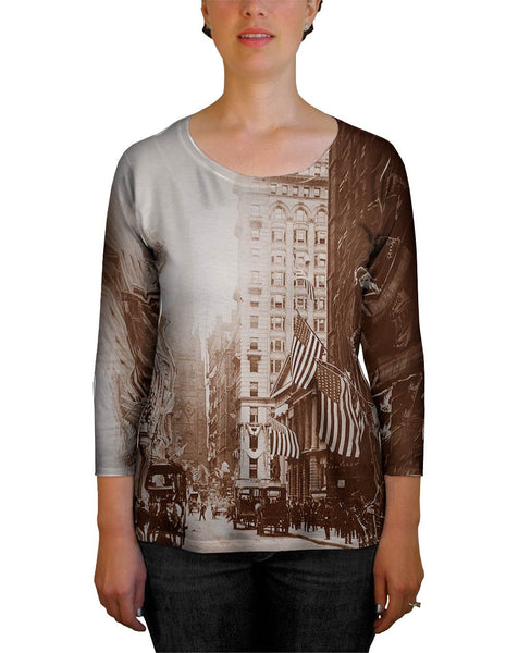 Wall Street New York Womens Tank Top