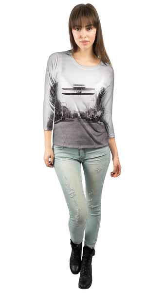 Wright Brothers Postcard Womens 3/4 Sleeve