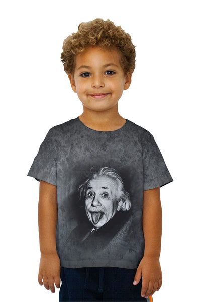 Kids Albert Einstein Sticks Out His Tongue Kids T-Shirt