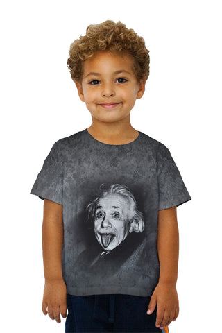 Kids Albert Einstein Sticks Out His Tongue