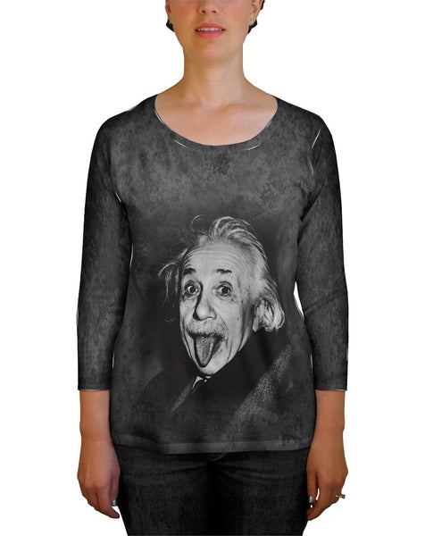 Albert Einstein Sticks Out His Tongue Womens Tank Top