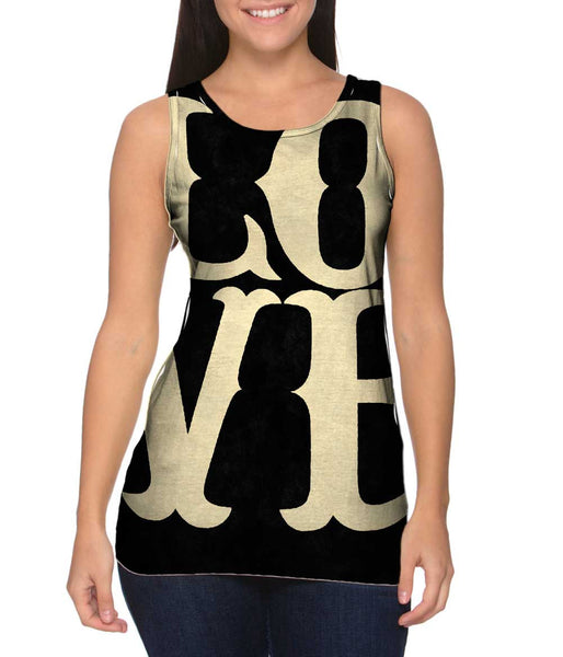 Runway Glamour Love Womens Tank Top