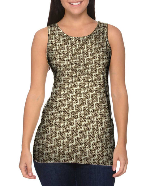 Tribal Brown Ornament Womens Tank Top