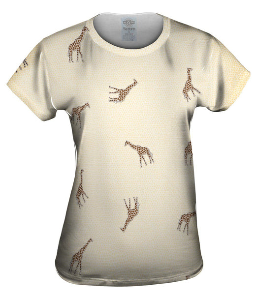 Acrobatic Giraffe Pattern Womens Top