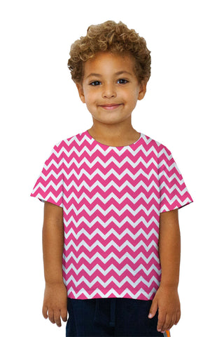 Kids Chevron Thick Pink
