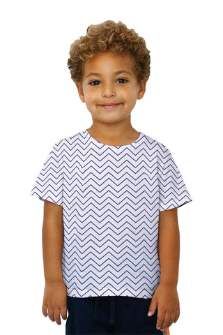 Kids Chevron Purple Thin