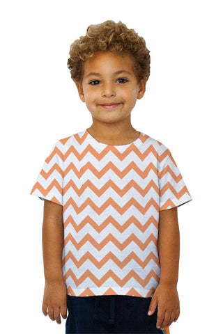 Kids Chevron Orange Medium