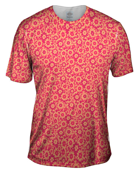 Flower Parade Magenta Fucsia Mens T-Shirt