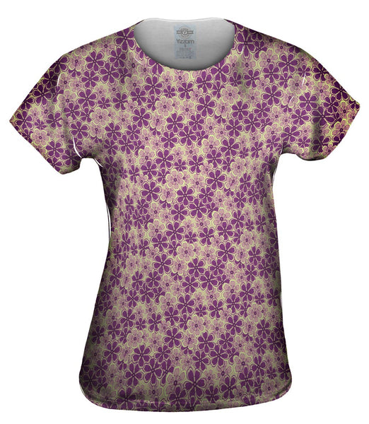 Flower Garden Purple Mint Womens Top