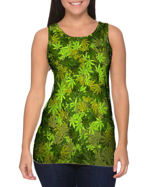Yellow Haze Legalize It Womens Tank Top