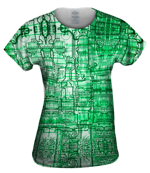 Circuit Board Green Womens Top