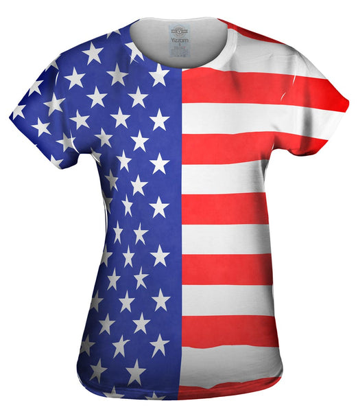 American Flag Womens Top