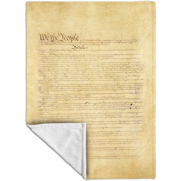 Us Constitution Fleece Blanket