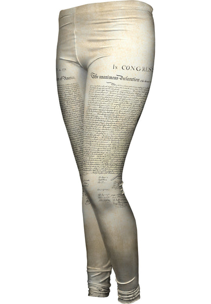 Us Declaration Of Independence Womens Leggings