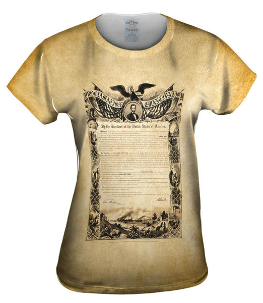 Emancipation Proclamation Womens Top