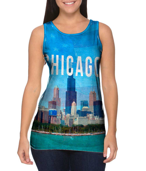 Chicago Pride Willis Tower Womens Tank Top