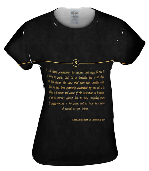 Sixth Amendment Us Constitution Womens Top