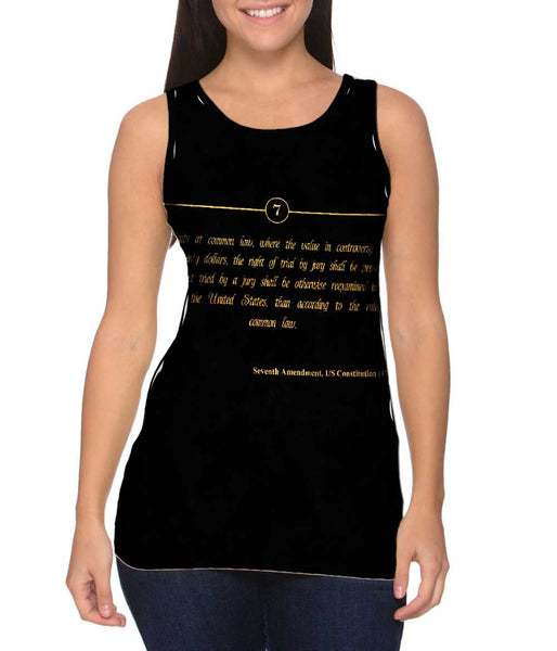 Seventh Amendment Us Constitution Womens Tank Top