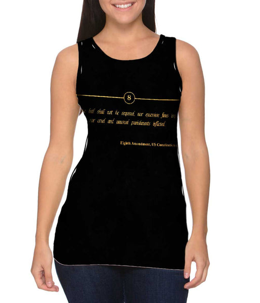 Eighth Amendment Us Constitution Womens Tank Top