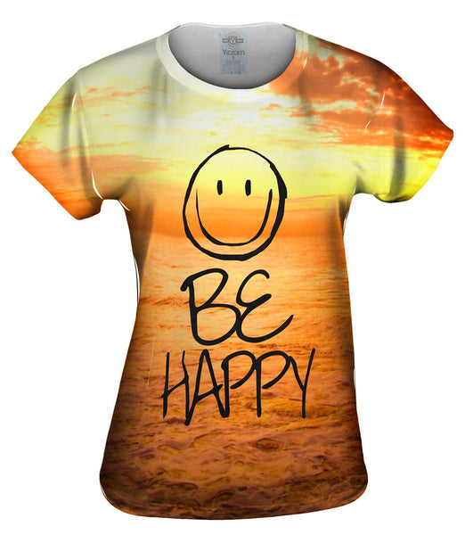 Flow With The Motion Be Happy Sea Womens Top