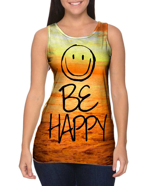 Flow With The Motion Be Happy Sea Womens Tank Top