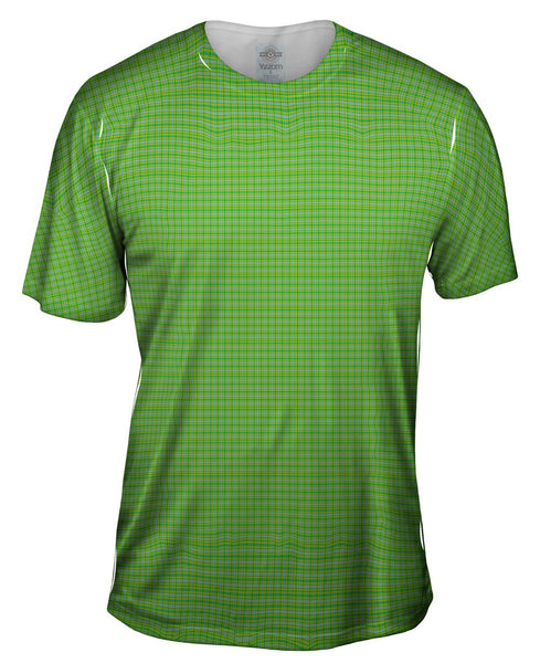 Green Flannel Mens T-Shirt