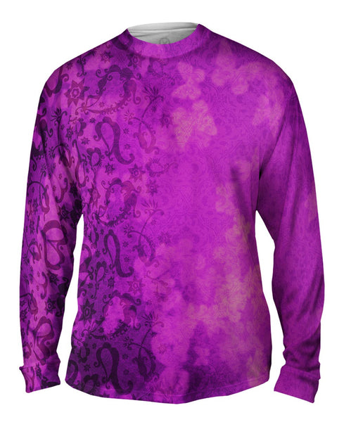 Bindi Indian Pattern Purple Mens Long Sleeve