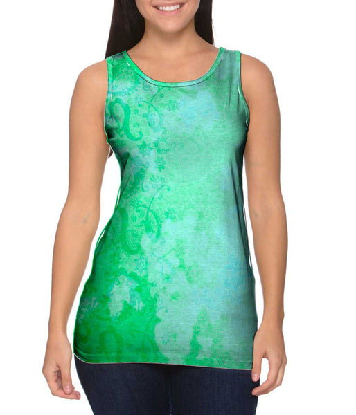Bindi Indian Pattern Green Turquoise Womens Tank Top