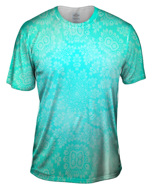 Floral Goddess Green Turquoise Mens T-Shirt